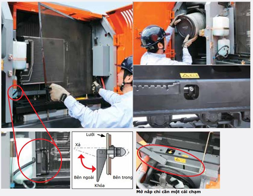 Máy đào bánh lốp Hitachi ZX210W-5A