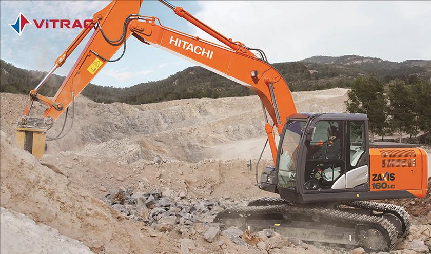 máy đào bánh xích hitachi zx160lc-5g