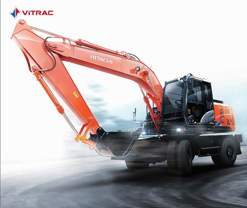 Máy đào bánh lốp Hitachi ZX170W-5A