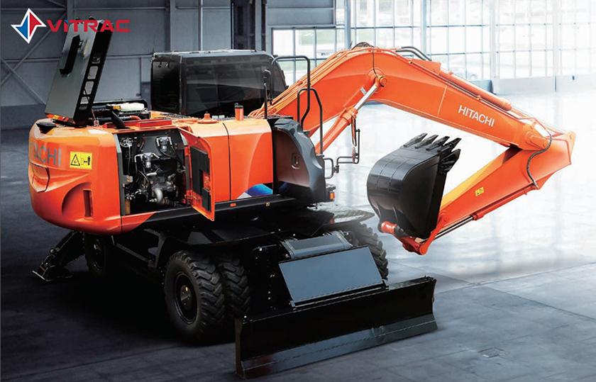 máy đào bánh lốp Hitachi ZW190-5A